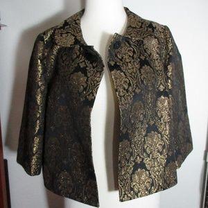 Michael Kors Women's Black Gold Bolero Shrug PS